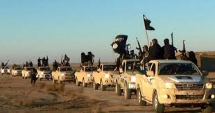 (Image credit: AP ISIS vehicles in Anbar Province, Iraq)